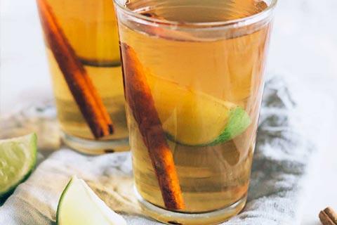 چای سبز و دارچین