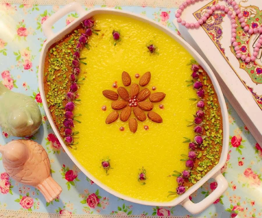 دستور پخت شله زرد برای 4 نفر