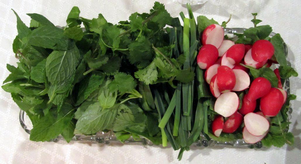یکی دیگر از انواع سبزی خوردن تره است