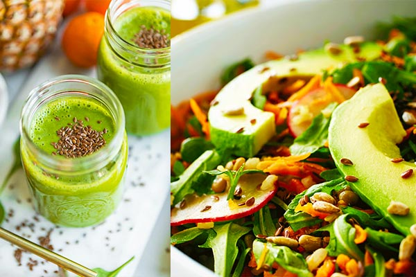 Flaxseed in smoothies and salads
