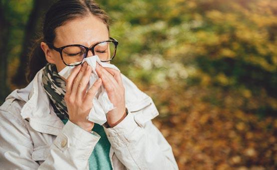 علائم حساسیت فصلی پاییز