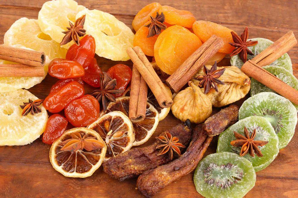 روش خشک کردن میوه ها روی بخاری
