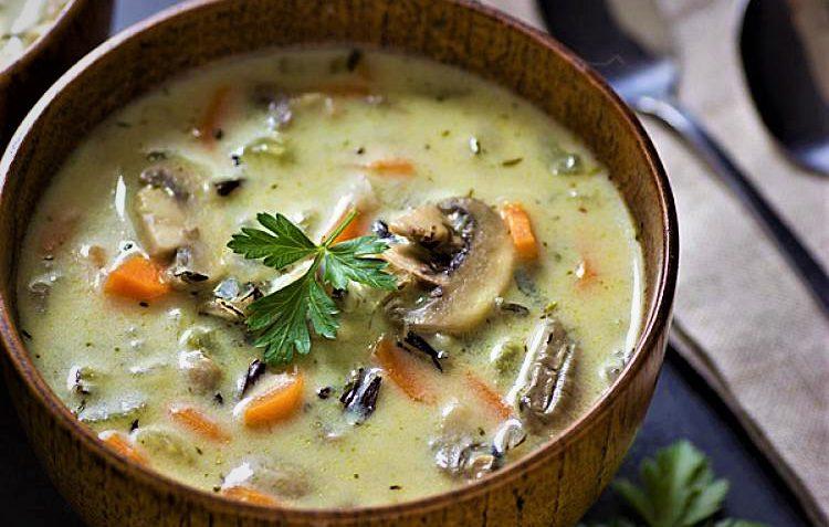 سوپ قارچ و هویج رژیمی
