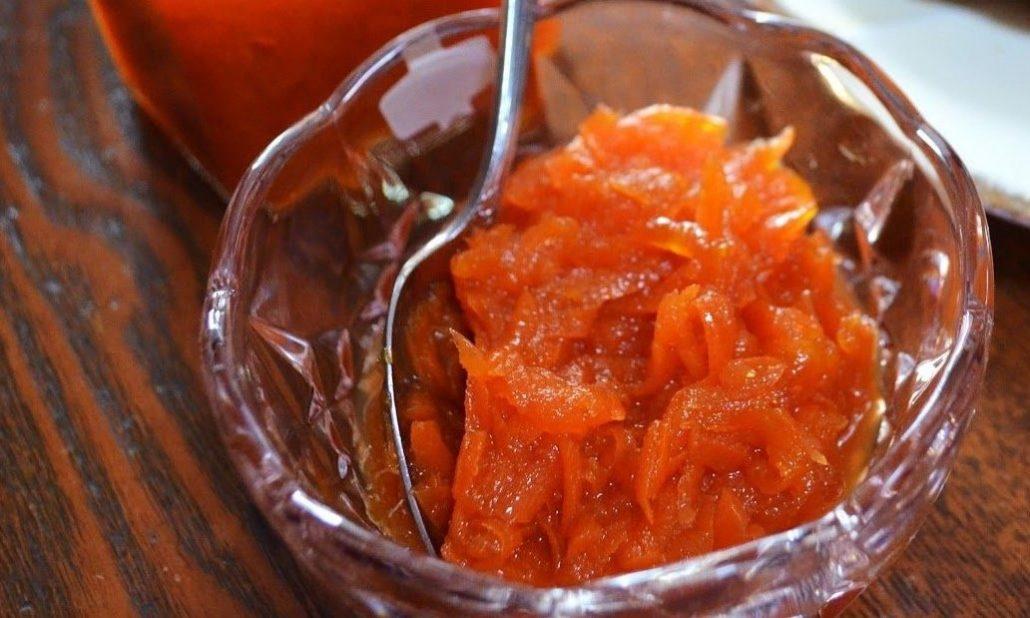 طرز تهیه مربای هویج با گردو