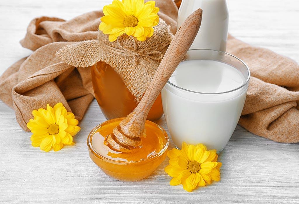 شیر و عسل برای چاقی صورت