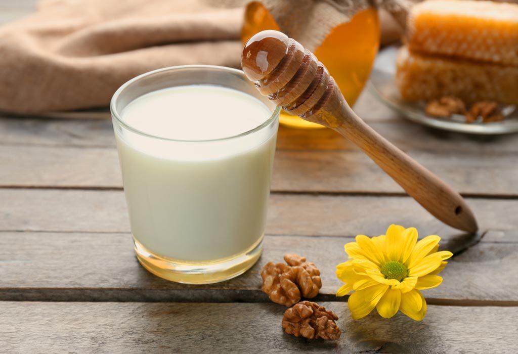 مخلوط شیر و عسل