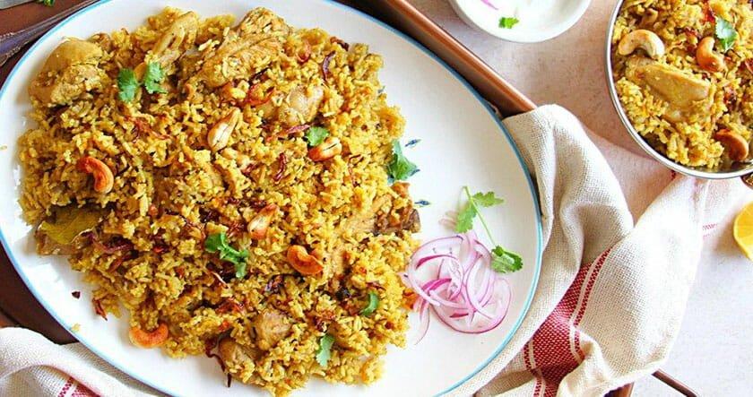 طرز پخت بریانی مرغ هندی