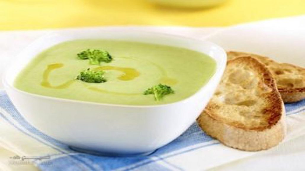 سوپ بروکلی با قارچ