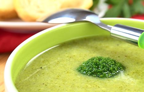 سوپ بروکلی با شیر