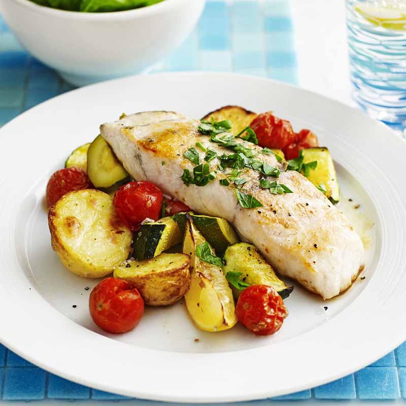 خوراک ماهی با سیب زمینی